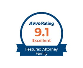 AVVO Rating 9.1 Excellent Featured Attorney Family